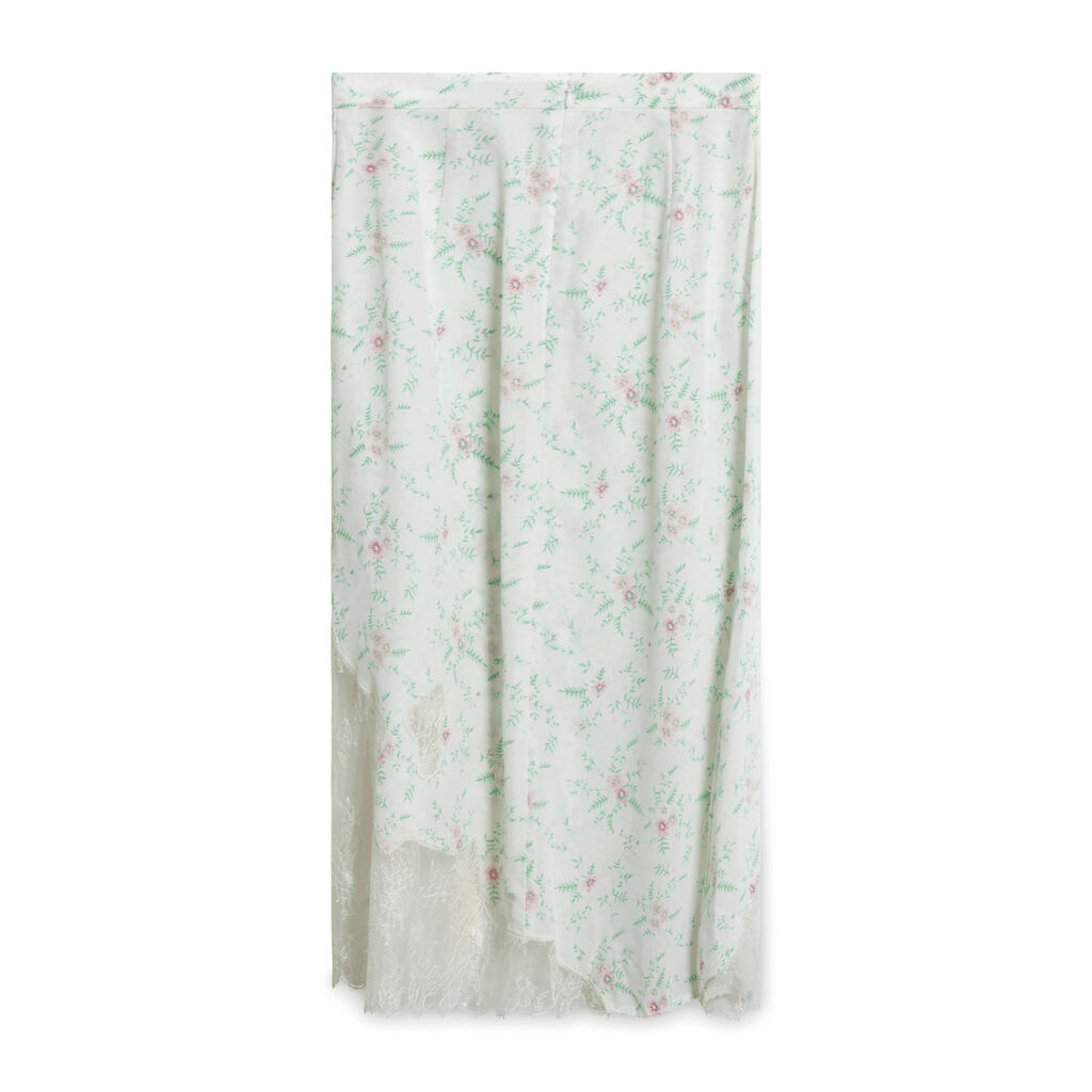 Le Fou Wilfred Floral Midi Skirt - White